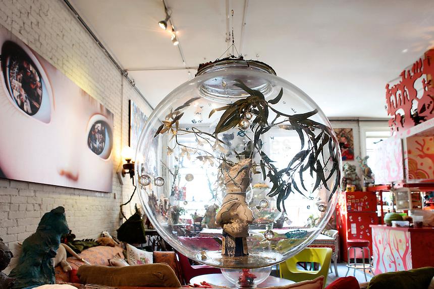 art deco glass ball