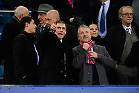 Lincoln City chairman Clive Nates, left, and Lincoln City's vice-chairman Roger Bates<br /> <br /> Photographer Chris Vaughan/CameraSport<br /> <br /> Emirates FA Cup Third Round - Everton v Lincoln City - Saturday 5th January 2019 - Goodison Park - Liverpool<br />  <br /> World Copyright &copy; 2019 CameraSport. All rights reserved. 43 Linden Ave. Countesthorpe. Leicester. England. LE8 5PG - Tel: +44 (0) 116 277 4147 - admin@camerasport.com - www.camerasport.com