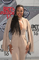 LOS ANGELES, CA - JUNE 26: LaTina Webb at the 2016 BET Awards at the Microsoft Theater on June 26, 2016 in Los Angeles, California. Credit: David Edwards/MediaPunch