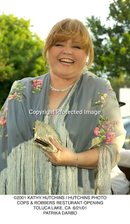 ©2001 KATHY HUTCHINS / HUTCHINS PHOTO.COPS & ROBBERS RESTURANT OPENING.TOLUCA LAKE, CA  6/21/01.PATRIKA DARBO