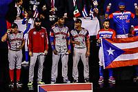 Anthony Garcia jugador mas valioso de los Criollos de Caguas de Puerto Rico equipo bi campeón de Serie del Caribe, al ganar 9 carreras por 4 a  Águilas Cibaeñas  de Republica Dominicana en estadio Panamericano en Guadalajara, México, jueves 8 feb 2018.  (Foto: /Luis Gutierrez)