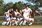 Palos Verdes, CA 02/09/12 - Hee Chang Yang (Peninsula #32) in action during the West vs Peninsula Bay League boys varsity soccer game.