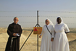 Jordan Valley, Baptism of the Lord holiday in Qasr al Yahud by the Jordan river