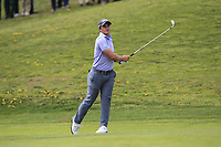 Paul Dunne (IRL) on the 1st fairway during Round 3 of the Open de Espana 2018 at Centro Nacional de Golf on Saturday 14th April 2018.<br /> Picture:  Thos Caffrey / www.golffile.ie<br /> <br /> All photo usage must carry mandatory copyright credit (&copy; Golffile | Thos Caffrey)