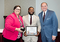 Spirit of State Awards ceremony. Vice President of Student Affairs Regina Hyatt and MSU President Mark Keenum with Jailand Williams. <br />  (photo by Megan Bean / &copy; Mississippi State University)