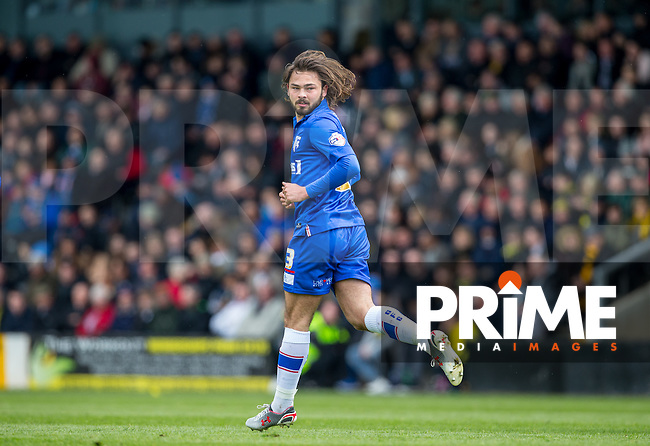 Bradley Dack of Gillingham during the Sky Bet League 1 match between Burton Albion and Gillingham at the Pirelli Stadium, Burton upon Trent, England on 30 April 2016. Photo by Andy Rowland.