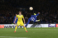 Chelsea's Willian with an overhead attempt<br /> <br /> Photographer Rob Newell/CameraSport<br /> <br /> UEFA Europa League Group L - Chelsea v FC BATE Borisov - Thursday 25th October - Stamford Bridge - London<br />  <br /> World Copyright © 2018 CameraSport. All rights reserved. 43 Linden Ave. Countesthorpe. Leicester. England. LE8 5PG - Tel: +44 (0) 116 277 4147 - admin@camerasport.com - www.camerasport.com