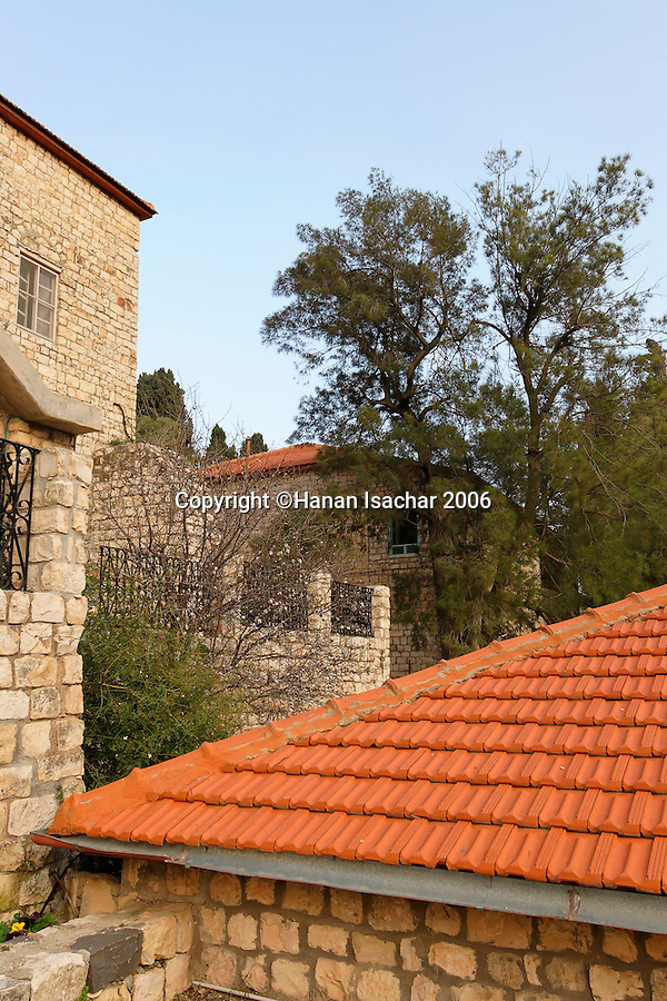 Israel, the Upper Galilee. Old houses in Rosh Pina founded in 1882 as an agricultural settlement, now a resort town
