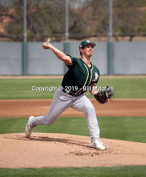 Parker Dunshee - Oakland Athletics 2019 spring training (Bill Mitchell)