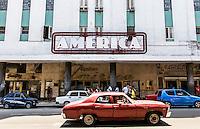 HAVANA, CUBA, 22.07.2015 –  Vista do teatro America localizado no bairro Habana Vieja. (Foto: Paulo Lisboa/Brazil Photo Press)