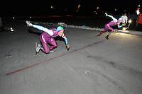 SCHAATSEN: BIDDINGHUIZEN: Flevonice, 19-02-2016, NK Kortebaan, Pim Schipper, Michel Mulder, ©foto Martin de Jong