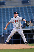 May 12, 2010 Starting Pitcher Liam Hendriks of the Fort Myers Miracle, Florida State League Class-A affiliate of the Minnesota Twins, delivers a pitch during a game at George M. Steinbrenner Field in Tampa, FL. Photo by: Mark LoMoglio/Four Seam Images