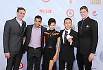 PASADENA, CA - SEPTEMBER 16: Ryan Lochte, Danell Levya, Eva Longoria, Leonel Manzano and guest arrive at the 2012 NCLR ALMA Awards at Pasadena Civic Auditorium on September 16, 2012 in Pasadena, California.