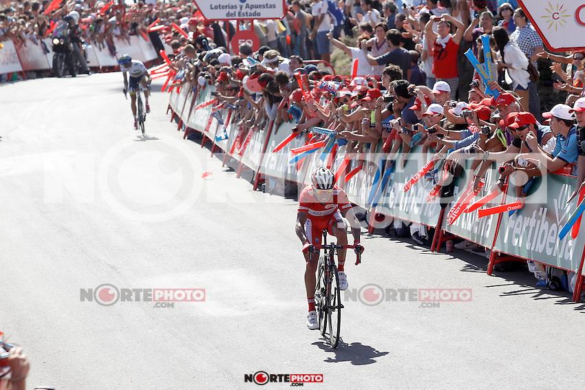 Joaquin Purito Rodriguez (f) and Alberto Contador during the stage of La Vuelta 2012 between Vilagarcia de Arousa and Mirador de Erazo (Dumbria).August 30,2012. (ALTERPHOTOS/Acero) /NortePhoto.com<br /> <br /> **CREDITO*OBLIGATORIO** <br /> *No*Venta*A*Terceros*<br /> *No*Sale*So*third*<br /> *** No*Se*Permite*Hacer*Archivo**<br /> *No*Sale*So*third*