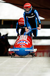18 November 2005: Eline Jurg pilots Netherlands 1 to a 18th place finish at the 2005 FIBT AIT World Cup Women's Bobsleigh Tour at the Verizon Sports Complex, in Lake Placid, NY. Mandatory Photo Credit: Ed Wolfstein.