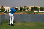 Fredrik Andersson Hed tees off on the par3 6th tee during Day 1 of the Dubai World Championship, Earth Course, Jumeirah Golf Estates, Dubai, 25th November 2010..(Picture Eoin Clarke/www.golffile.ie)