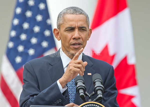 United States President Barack Obama holds a joint press conference with Prime Minister Justin Trudeau of Canada  in the Rose Garden of the White House in Washington, DC on Thursday, March 10, 2016. <br /> Credit: Ron Sachs / CNP/MediaPunch