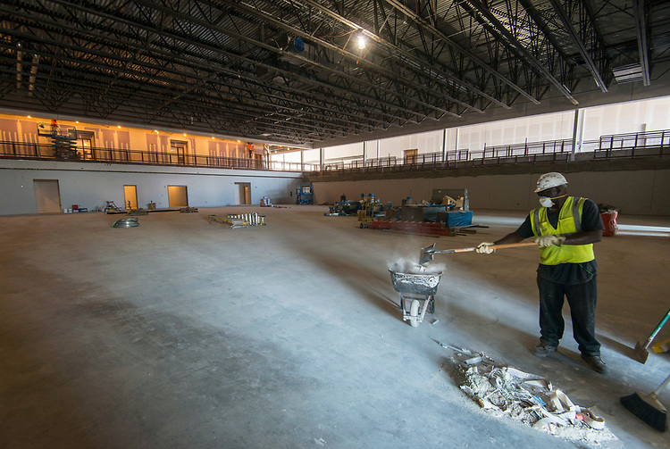 Construction at North Forest High School, May 16, 2017.