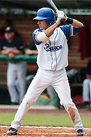 27 july 2010: Maxime Lefevre of France is seen at bat during France 8-2 victory over Belgium, in day 5 of the 2010 European Championship Seniors, in Stuttgart, Germany.