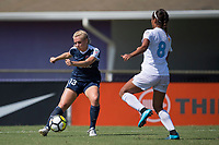Sanford, FL - Saturday Oct. 14, 2017:  A Courage player crosses the ball during a US Soccer Girls' Development Academy match between Orlando Pride and NC Courage at Seminole Soccer Complex. The Courage defeated the Pride 3-1.