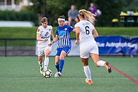 Boston, MA - Friday August 04, 2017: Becca Moros and Tiffany Weimer during a regular season National Women's Soccer League (NWSL) match between the Boston Breakers and FC Kansas City at Jordan Field.