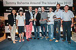Aberdeen Extreme 40 crew receive the prize to the fastest boat during the Hong Kong Around the Island Race on November 11, 2013 at Royal Hong Kong Yacht Club in Hong Kong, China. Photo by Xaume Olleros / The Power of Sport Images