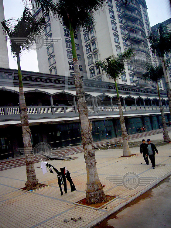 New, empty flats in a neighbourhood next to Haikou Harbour.