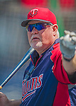 8 June 2013: Minnesota Twins Manager Ron Gardenhire taps out grounders during batting practice prior to a game against the Washington Nationals at Nationals Park in Washington, DC. The Twins edged out the Nationals 4-3 in 11 innings. Mandatory Credit: Ed Wolfstein Photo *** RAW (NEF) Image File Available ***