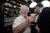 """26/7/2011. Porterhouse Celebrates Fifteen Years of Brewing with another Gold Medal. Pictured at the Sweny Chemist venue in Dublin celebrating is Myles Mc Weeney .The Porterhouse Brewing Company is fifteen years old and to add to the celebrations they have been awarded a gold medal for their Plain Porter. The award, which is much sought after by brewers worldwide, was bestowed upon the Porterhouse's famous Plain Porter at the Brewing Industry International Awards, dubbed, """"The Brewing Oscars"""" in a glitzy ceremony at London's Guild Hall. It is the second time the Porterhouse has received this famous accolade. The first was in 1998 and again it was the Plain Porter that brought home the gold. The awards, with approximately eight hundred and fifty entries, are structured into nine categories with thirty-two classes and medals are extremely difficult to win. Picture Collins Photos"""
