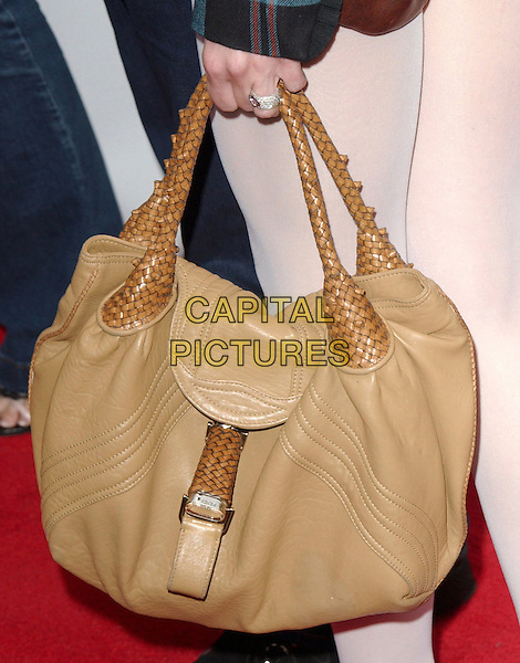 GWEN STEFANI'S BAG.Movieline's Hollywood Life Magazine's 7th Annual Young Hollywood Awards at The Music Box at The Fonda in Hollwyood, California..May 1st, 2005.brown beige leather bag ring.www.capitalpictures.com.sales@capitalpictures.com.Supplied By Capital PIctures