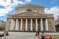 MOSCOU, RUSSIA, 05.07.2018 - TURISMO-RUSSIA - Vista do Teatro Bolshoi na praça vermelha na cidade de Moscou na Russia nesta quinta-fira, 05. (Foto: William Volcov/Brazil Photo Press)