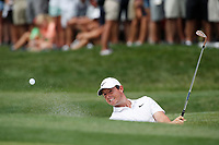 Rory McIlroy (NIR) hits out of a sand trap on the 8th hole during the 1st round of the 100th PGA Championship at Bellerive Country Club, St. Louis, Missouri, USA. 8/9/2018.<br /> Picture: Golffile.ie | Brian Spurlock<br /> <br /> All photo usage must carry mandatory copyright credit (© Golffile | Brian Spurlock)