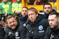 Graham Potter Head Coach of Brighton & Hove Albion Billy Reid Assistant Head Coach of Brighton & Hove Albion\during Wolverhampton Wanderers vs Brighton & Hove Albion, Premier League Football at Molineux on 7th March 2020