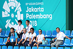 Japan team group (JPN),<br /> AUGUST 31, 2018 - Soft Tennis : <br /> Men's Team  Preliminary Round <br /> at Jakabaring Sport Center Tennis Courts <br /> during the 2018 Jakarta Palembang Asian Games <br /> in Palembang, Indonesia. <br /> (Photo by Yohei Osada/AFLO SPORT)
