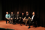 LOS ANGELES - NOV 9: Randy Slovacek, Chuck Saculla, Chris Ekstein, Benjamin Pollack, Matt Zarley, George Takei  at the special screening of Matt Zarley's 'hopefulROMANTIC' at the American Film Institute on November 9, 2014 in Los Angeles, California