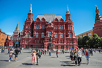 MOSCOU, RUSSIA, 05.07.2018 - TURISMO-RUSSIA - Vista do Museu Histórico do Estado da Russia na praça vermelha na cidade de Moscou na Russia nesta quinta-fira, 05. (Foto: William Volcov/Brazil Photo Press)