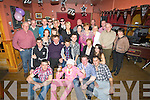BIRTHDAY: Brian Egan from Ardfert seated centre celebrated his 21st Birthday in McElligotts Bar, Ardfert with his family and friends on Sunday night. ...