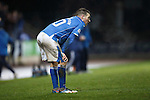St Johnstone v Kilmarnock....09.01.16  Scottish Cup  McDiarmid Park, Perth<br /> David Wotherspoon reacts to defeat<br /> Picture by Graeme Hart.<br /> Copyright Perthshire Picture Agency<br /> Tel: 01738 623350  Mobile: 07990 594431