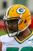 Green Bay Packers guard Jahri Evans (73) during an Organized Team Activity on May 23, 2017 at Clarke Hinkle Field in Green Bay, Wisconsin.  (Brad Krause/Krause Sports Photography)
