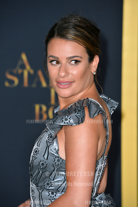 """LOS ANGELES, CA. September 24, 2018: Lea Michele at the Los Angeles premiere for """"A Star Is Born"""" at the Shrine Auditorium.<br /> Picture: Paul Smith/Featureflash"""