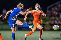 Allston, MA - Wednesday Aug. 31, 2016: Natasha Dowie, Ellie Brush during a regular season National Women's Soccer League (NWSL) match between the Boston Breakers and the Houston Dash at Jordan Field.