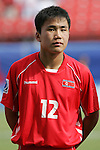 06 July 2007: North Korea's Kuk Jin Kim, pregame. Argentina's Under-20 Men's National Team defeated North Korea's Under-20 Men's National Team 1-0 in a Group E opening round match at Frank Clair Stadium in Ottawa, Ontario, Canada during the FIFA U-20 World Cup Canada 2007 tournament.