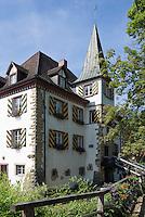 Germany, Baden-Wuerttemberg, Markgraefler Land, Wasserschloss Entenstein, Schliengen, castle Entenstein, townhall