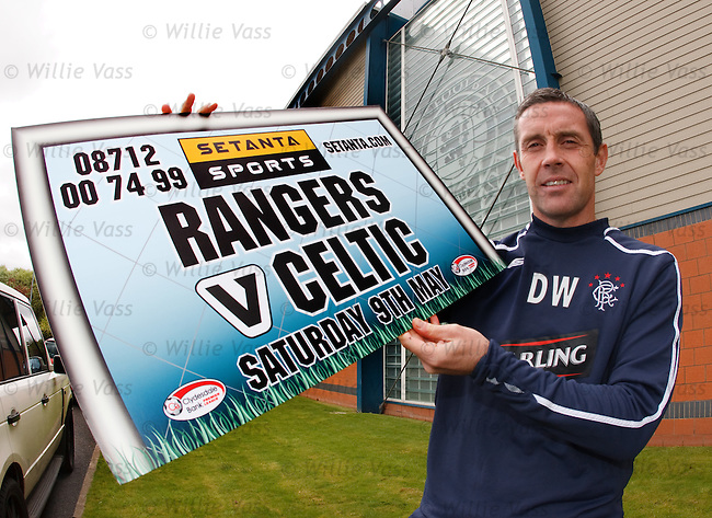David Weir promotes the Old Firm game for Setanta