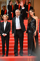"CANNES, FRANCE. May 19, 2019: Frederique Bredin, Alain Delon & Anouchka Delon at the gala premiere for ""A Hidden Life"" at the Festival de Cannes.<br /> Picture: Paul Smith / Featureflash"