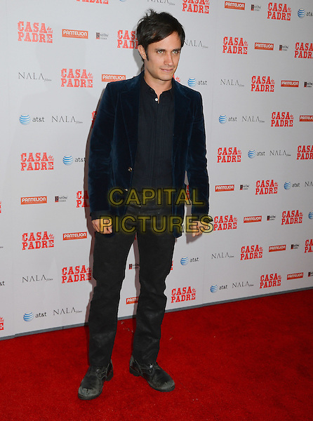 "Gael Garcia Bernal.""Casa de mi Padre"" Los Angeles Premiere at Grauman's Chinese Theatre, Hollywood, California, USA..March 14th, 2012.full length jacket jeans denim black blue velvet jacket.CAP/ADM/BT.©Birdie Thompson/AdMedia/Capital Pictures."