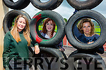 getting the obstacles ready for the Hercolean The Island Warrior challenge which will be held in Castleisland Rugby club and An Riocht Saturday week are l-r: Christine Egan Kate McSweeney and Liz Horgan