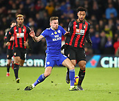 2nd February 2019, Cardiff City Stadium, Cardiff, Wales; EPL Premier League football, Cardiff City versus AFC Bournemouth; Joe Ralls of Cardiff City tackles Lys Mousset of Bournemouth