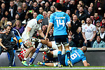 England's Billy Vunipola goes over for the first try - RBS 6 Nations - England vs Italy - Twickenham Stadium - London - 14/02/2015 - Pic Charlie Forgham-Bailey/Sportimage