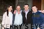 Mike Sullivan and Brian Hickey with Danny and Maire Healy Rae at the play The Rise on the Healy Raes in the Ivyleaf theater Castleisland on Saturday night